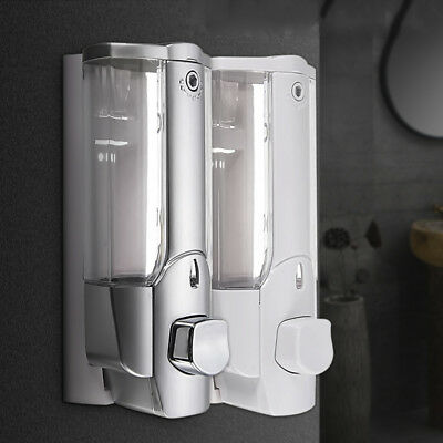 Wall Mount Home Bathroom Sanitizer Soap Shampoo Dispenser Shower Lotion Bottle