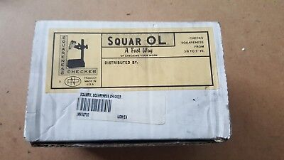 "Squar Ol indicator holder. Checks squareness from 3/8 to 5"" high. Made in USA"