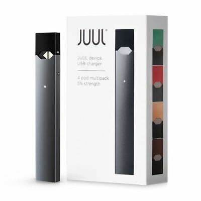 New Juul-Device + Charger - Starter Kit Includes 4 Flavor Pods Fast Shipping!!