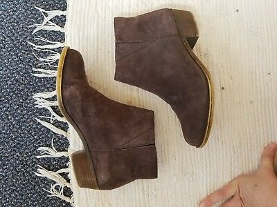 Brown lucky brand booties, size 8