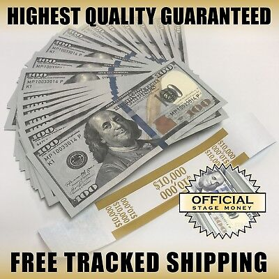 $10,000 - Top Quality Copy Stack For Film, Movies, TV, Music Videos Fake Money
