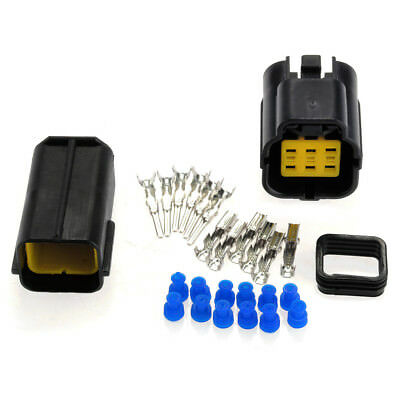 Kit Car 6Pin Waterproof Electrical Cable Connector Plug