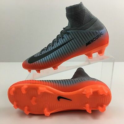 0d976e77de7f NIKE JR Mercurial Superfly V CR7 FG Youth Soccer Cleat 852483-001 Grey  Orange
