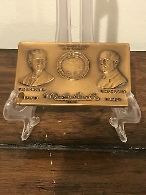 "1930s 3""x2"" Crosby Brothers Bronze Medallions Steampunk Industrial Topeka Kansas"