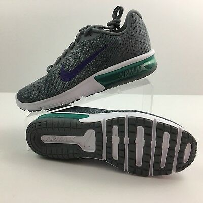 5d718debb292fc NEW NIKE Women s Air Max SEQUENT 2 Running Shoes 852465 012 Grey Purple