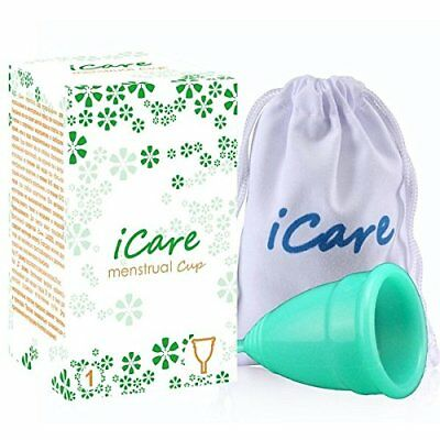 icare menstrual Cup - 2 Sizes - UK SELLER  9 Colours Same Day Dispatch !