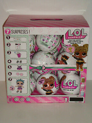 LOL SURPRISE GLITTER SERIES Full Case Box of 18 Big Sister Doll Balls AUTHENTIC