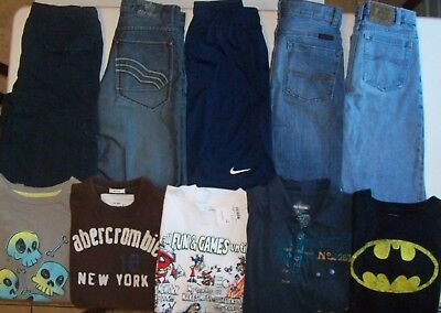 Boys Spring clothes lot size 12 boys jeans size 12 Epic Threads Nike Abercrombie