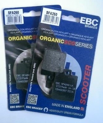 Piaggio MP3 300 LT (2010) EBC Organic FRONT Disc Brake Pads (SFA260) (2 Sets)