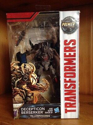 Transformers The Last Knight TLK Premier Edition Deluxe Berserker MISB