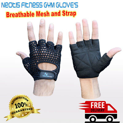 Gym Real Leather Gloves Weight Lifting Fitness Crossfit Training Padded Gloves