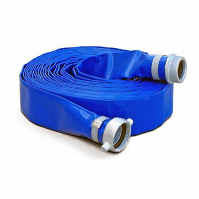 2in 50ft Water Pump Discharge PVC Hose HP0250D CamLock Flood Construction Mine