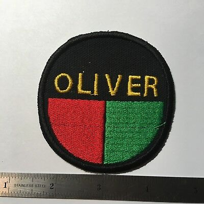 Oliver Farm Tractor  Embroidered Emblem Iron-On Sew-On Patch
