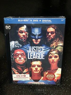 Justice League Target Exclusive DigiBook Blu-ray/DVD+Digital Lenticular Cover