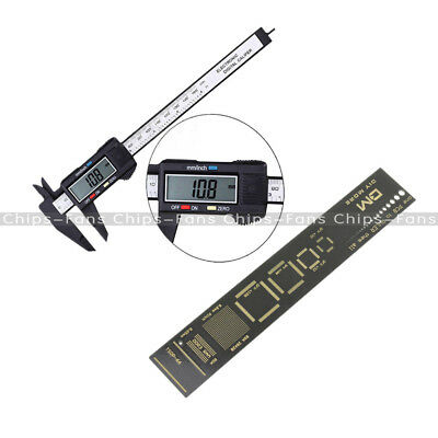 LCD Electronic Carbon Fiber Vernier Caliper PCB Ruler for Electronic Engineers