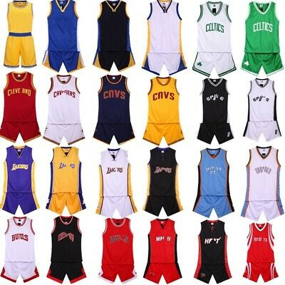 New Basketball Jerseys & Shorts Set Sleeveless Athletic Gym Sportswear Clothings