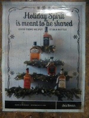 Jack Daniel's Holiday 2017 Window Cling Sign