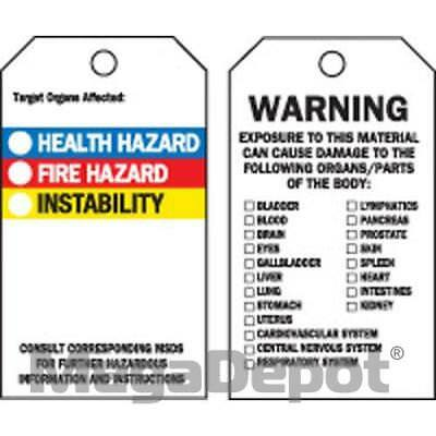 Brady 76229, RTK ACCIDENT PREVENTION TAGS W/OVERLAM