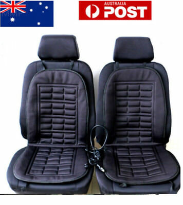 2x Universal DC12V Auto Car Front Seat Heated Heating Pad Cushion Cover Warmer