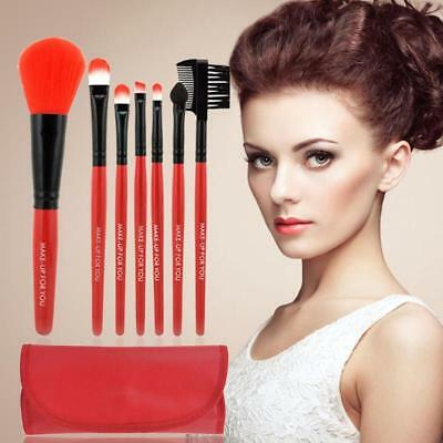 7pcs Toiletry Set Women MakeUp Brush Foundation Cosmetic Beauty Lip Brush Tool