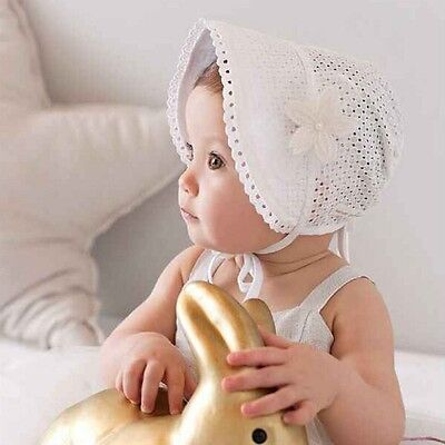 Cute Toddlers Baby Girls Flower Princess Sun Hat Cap Summer Cotton Hat Bonnet US
