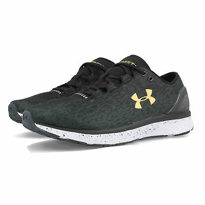 Under Armour Mens Charged Bandit 3 Ombre Running Shoe Black Breathable Trainers