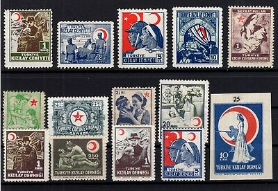P61743/ Turkey Charity / Lot 1944 – 1947 Neuf * / Mint Mh 167 €