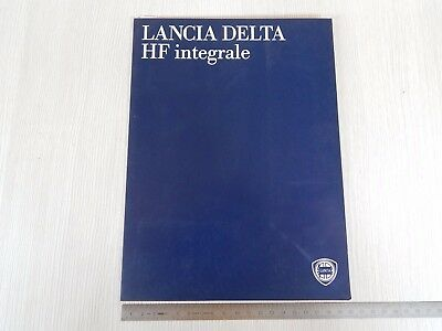 Unica: Brochure Stampa Lancia Delta Integrale Dealers Collection & Final Edition