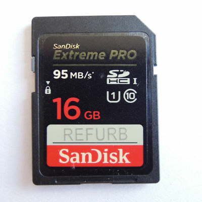 SanDisk 16GB SD Extreme Pro U1 memory card class10 95MB/S SDSDXPA-016 R f/ Canon