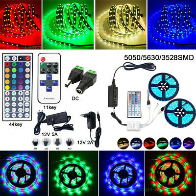 10M 20M 5M LED Flexible Strip Light SMD 3528 5050 5630 300 +Remote +Power Supp
