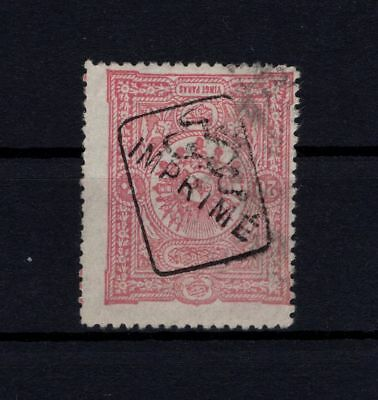 P61654/ Turkey / Newspaper Stamp / Y&t # 8 Used Certificate 180 €