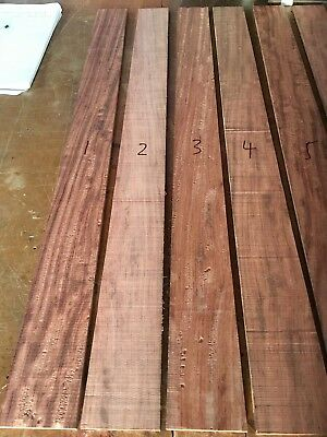 Highly figured Bubinga African rosewood bass guitar fingerboard fretboard blank