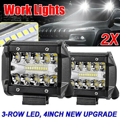 22Inch Tri-Rows 90PCS LED Light Bar Spot Flood Combo Work Driving Offroad Truck