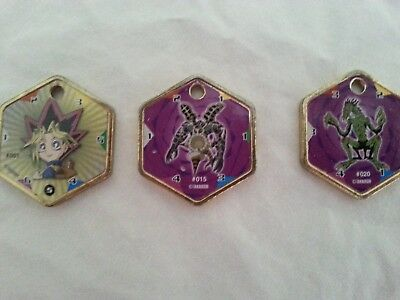 Lot of 3 YU-GI-OH! YuGiOh Hexors Metal Medallions Coins Charm Tokens
