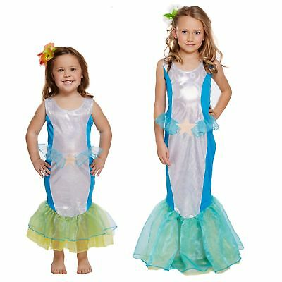Girls Mermaid Fancy Dress Costume Fairytale Little Princess World Book Day Week