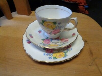 royal vale china mothers tea set cup and 2 plates mothers day