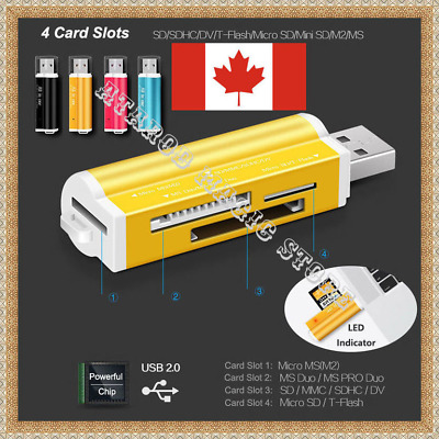 All in 1 USB2.0 Multi Memory Card Reader for SD MMC SDHC TF M2