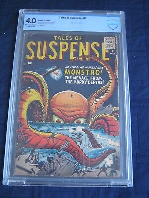 "TALES OF SUSPENSE #8 (3/1960) Atlas- CLASSIC Kirby Cover- ""MONSTRO""- CBCS 4.0"