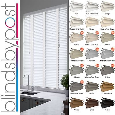 Faux Wood Impression Venetian Blinds With Tapes - Made To Measure - 21 Colours