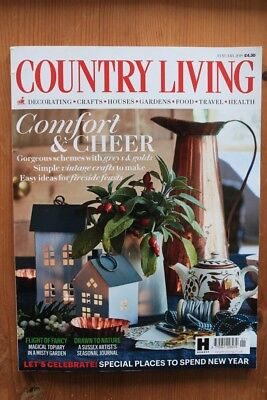 Country Living Magazine - January 2018 Great Condition