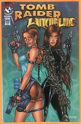 Tomb Raider Witchblade 1 Green Cover Image Comics