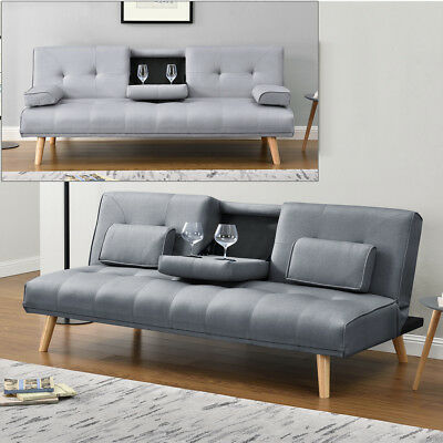 Tremendous Modern 2 3 Seater Small Sofa Couch Grey Fabric Footstool Pdpeps Interior Chair Design Pdpepsorg