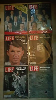 Life Mag 59-69 Us Astronauts Lot All Photos Intact And Best Condition And Bagged