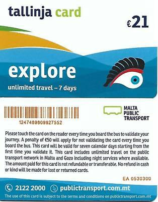 7 Days Unlimited Travel Card for MALTA and GOZO