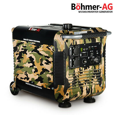 Inverter Petrol Generator - W5500i 3.0KW - Quiet Portable Compact Camping Power
