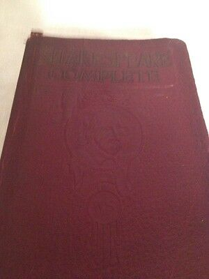 1926 Red Limp Leather Book The Complete Works of William Shakespeare As Is