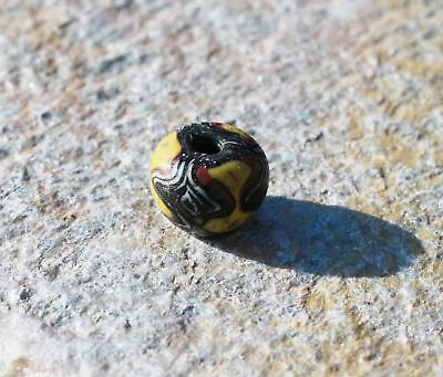 Ancient Islamic period Folded glass bead