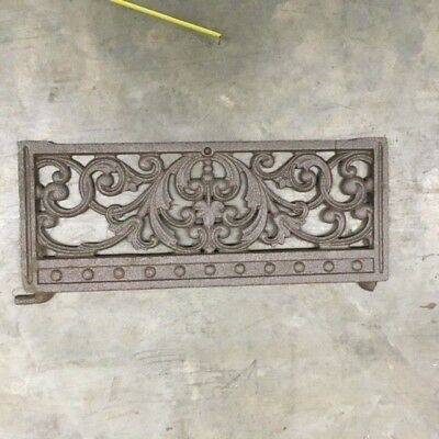 Antique Victorian Cast Iron Grate Architectural Salvage Stove Piece Great Design