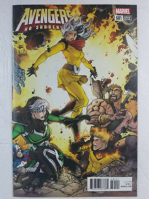 Avengers #681 (Marvel, 2018), No Surrender, 1:25 Bradshaw Connecting Variant