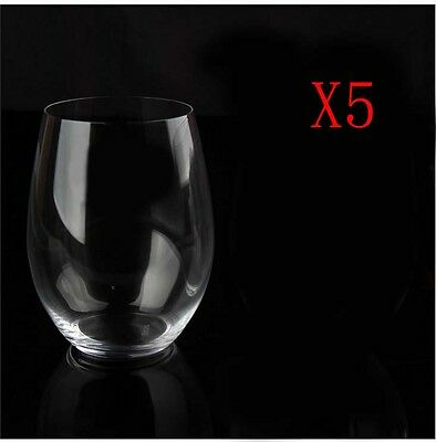 New 5X Capacity 600ML Height 121MM Transparent Red Wine Glass/Glassware %